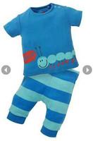 2014 New Summer boys Clothing Set Children's Short Sleeve Cow stripes T-shirt Gray stripe Pants Boys Clothes K6315