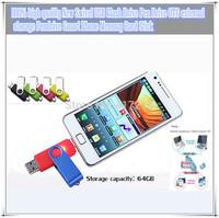 Free Freight New Swivel 64GB USB Flash Drive Pen Drive OTG external storage Pendrive Smart Phone Memory Card Stick  1 PCS
