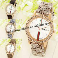 100pcs/lot WOMAGE-409-2 Casual Watch for Women Men Sports Watches Quartz  Fashion Leather Strap Unisex Analog Wristwatches