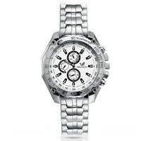 2014 men wristwatches Fashion full Stainless Steel Analog Quartz Watch Casual reloj Brand Silver Band Clock Relogios Masculinos