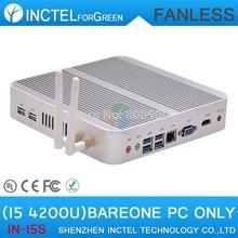 Barebone fanless 4K mini pc i5 4200u with Intel Core i5 4200U 1.6Ghz CPU Haswell Architecture SOC design aluminum chassis(China (Mainland))