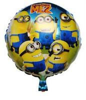 New arrive 10pcs/lots wholesales Minions balloon Birthday party Printed cartoon balloons Hot Free shipping