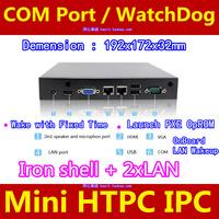Mini HTPC IPC COM port WatchDog Barebone NANO PC INTEL 1037U 1.8Hz  Dual-core no RAM no HDD