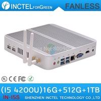 Fanless X86 mini pc I5 with 4K HD intel Core i5 4200U 1.6Ghz CPU Haswell Architecture SOC design 2G RAM 40G HDD windows Linux