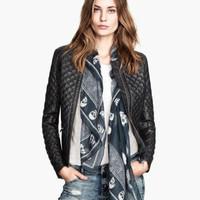 FS2855 Winter New Arrival Fashion European Style Good Quality PU Leather Jacket Coat Long Sleeve