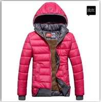 2014 Winter Women Coat New Brand Fashion Jacket Luxury overcoat warm thicken down-cotton Coat with Hooded Plus Size M-XXL
