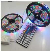10M (2 x 5M) 5050 LED Strip Lights Waterproof 300leds SMD RGB Lamps + 44 KEYS IR Remote + 12V 5A Power Adapter
