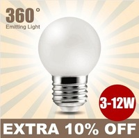 E27 3W 5W 7W 10W 12W LED Bulbs 220V led lamp white  warm white LED lights free shipping