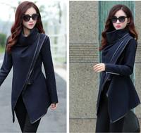 Free Shipping women fashion trench woolen coat  2014 Europe brands hot sale winter woolen overcoat    LJ001XGJ