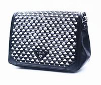 Fashion original women bags designer office bag black handbag triangle knitted clutch female high quality PU leather purses