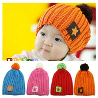Newborn Photography Props Fashion Stars Baby Beanie Child Winter Hat 4 Colors Cotton Children Girls Boys Cap Reima