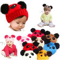 Panda Baby Beanie 5 Colors Fashion Cute Winter Baby Clothing Accessories Child Hap Children Cap Girl Boy Fotografia