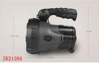ZK2128A solar rechargeable flashlight   LED light 1000 meters long-range illumination
