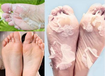 1 пара sosu нога ноги обновление маска пилинг кутикулы пятки по уходу за ногами педикюр носки для бамбук уксус удалить мертвую кожу ребенка ноги