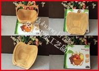 Novelty item apple shape folding fruit basket bamboo basket home storage wholesale free shipping