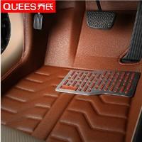 free shipping fiber leather car floor mat for nissan qashqai/x-trail/tiida/altima/teana