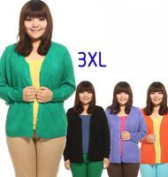 A generation of fat mm XL clothing plus fat people fat ladies cardigan sweater coat XXXL recruit agents
