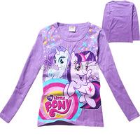 Wholesale 5 pcs/lot  kids My little Pony t-shirt/baby girls Pincess long sleeve top tees/children cartoon 3-7Y shirt