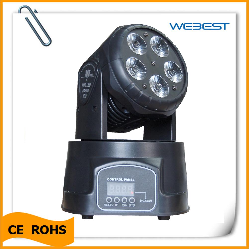5*15W 5in1 RGBAW Mini moving head Wash led moving head light(China (Mainland))