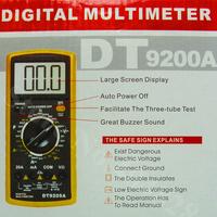 Digital Multimeter Excel DT9205A, Yellow/Black