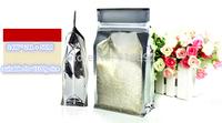 Wholesale 14*24+5cm  Half Clear Bag,Stand Up zipper plastic Bag,Snack & Coffee Bag,Tea Bag / suitable for 1.8kg rice