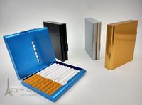 Fashion 1pcs  aluminium alloy Cigarette Case Holder , Regular Size, 4colors Men's Gift Smoking Accessories