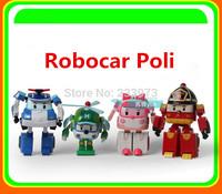 4PCS/Set Robocar Poli Transformation Robot Car Toys South Korea Thomas Classic Action Figure Cartoon Toys