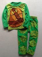Free shipping children kids girl Teenage Mutant Ninja Turtles Fleece winter long sleeves pajamas pyjamas sleepwear
