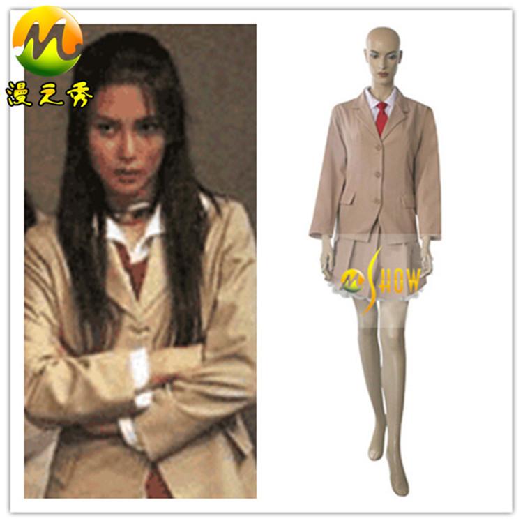Hot Sell Anime Cos Dress Female Battle Royale Girl School Uniform Cosplay Costume Halloween Costumes Wowen's Uniform XXS-3XL(China (Mainland))