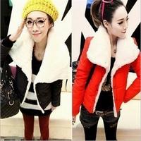 Free Shipping 2014 winter warm jacket women wool slim double breasted wool winter jacket women fur women's coat jackets R918