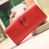 famous brand women 's wallets fashion leather purse lady Clutch bags woman Travelers walletPure color phone bag change purse