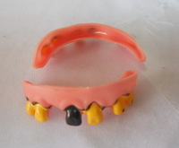Hill Billy Goofy Bad Fake Horrible Halloween False Teeth - novelty party favors toy Trick JOKE Prank Gag Crap Kidding