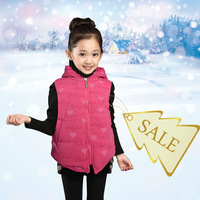 Free Shipping Retail 1pcs Children's Vests Waistcoat candy color soft cotton autumn and winter baby vest girl outwear coat