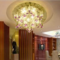 5W modern led ceiling lights for living room crystal lampshade home lighting plafon hallwy led lamp light fixture AC85-265V
