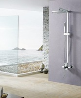 Single Handle Wall Mount Rainfall  8 Inch Shower Head and Adjustable Slide Bar Bathroom Shower faucet set