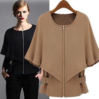 New Winter Women's Manteau Coat  Woollen Casual Jacket Jaqueta Feminino Work Wear Coats Free shipping