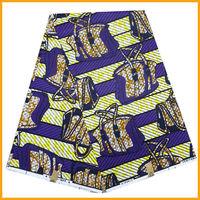 veritable wax block prints fabric wax fabric purple color  african wax fabric