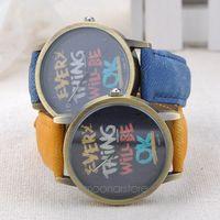 Retro Casual Canvas Strap Watch Unisex Men Boys Child Graffiti Quartz Wristwatch ZMPJ058