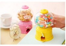 ShanghaiMagicBox 1pc Cute Mini Bubble Gum Ball Candy Dispenser Machine Coin Box Kids Toy Pink Color(China (Mainland))