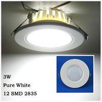 Free Shipping 3W Round LED Recessed light Ceiling Fixtures Panel light Down light AC220-240V Home Lighting LEDTD001
