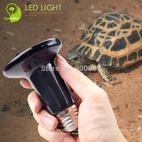 FREE SHIPPING Black 220V Ceramic Emitter Heated Pet Appliances for Reptile Heat Lamp Light 50W/75W/100W/150W