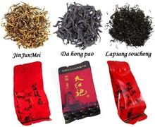 12 bags Organic Chinese Tea Different flavors Tea Jinjunmei Dahongpao Lapsang souchong Black Tea Oolong Tea +Secret Gift(China (Mainland))