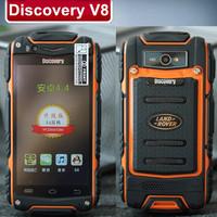 Original new 2014 Discovery V8 Waterproof Shockproof 4.0''IPS 800x480 MTK6572 256MB 512MB 0.3MP 5.0MP Russian Polski Cestina