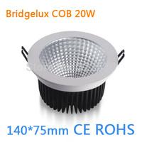Factory Outlet 20W COB Bridgelux LED Downlight.140*75mm.Led Ceiling Light.85-260VAC.CE ROHS