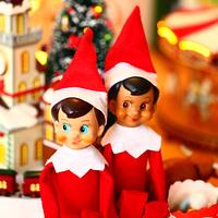 Bonbon Box elf on the shelf action figure collection vintage toy Classic Christmas doll 2 PCS/LOT
