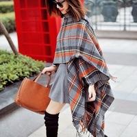 Free Shipping!2014 New! Fashion Classic Retro Original Plaid Imitation Cashmere Long Women Scarf Shawl, M105
