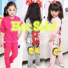 niños/niñas ropa conjuntos traje de los niños shirt+pants 2 piezas otoño chicas modelos traje nuevo paquete deportivo impresión(China (Mainland))