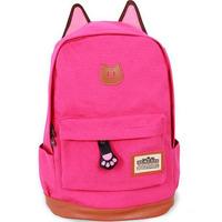 Hotsale Hot Promotion 2015 Women and men's Women Cartoon Cat Ear Backpacks Brand fashion school bag Backpack Women's travel Bags