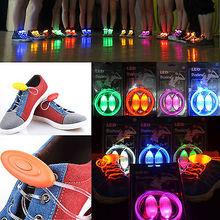 Free shipping LED Shoelaces Shoe Laces Flash Light Up Glow Stick Strap Shoelaces Disco Party(China (Mainland))