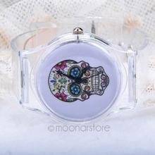 7 Styles New Arrival Jelly Silicone Transparent Plastic Women Quartz Windmill Watches Clear Wrist women dress